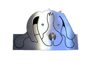 Edelstahl-Klingel Hund 805003