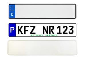 Kennzeichen-Schild Standard
