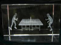 3D Tischtennis im Glasblock