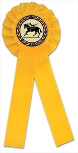 Turnierschleife gelbgold
