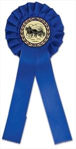 Turnierschleife blau