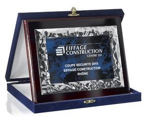 Metall Ehren Tafel mit Samt-Etui 192-71