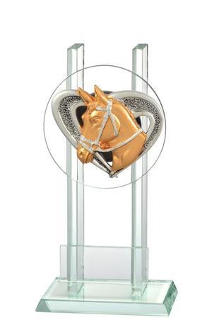 Glastrophäe Pferdekopf  FG2508