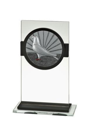 Glas Pokal Taube FG026