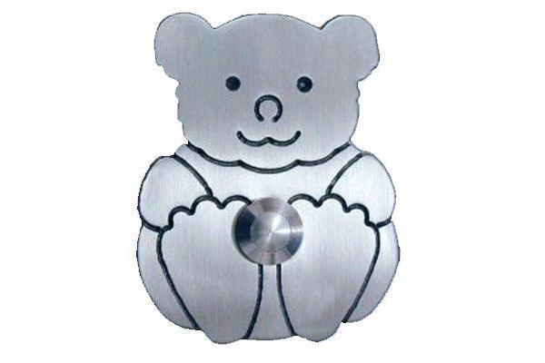 Edelstahl-Klingel Teddybär 805008