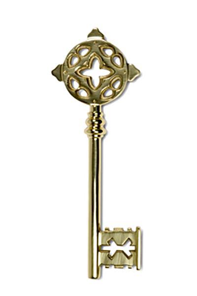 Übergabe Buntbart Schlüssel in Messing