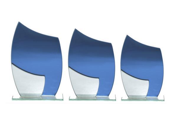 Glas Pokal 8808 blau Lasergravur