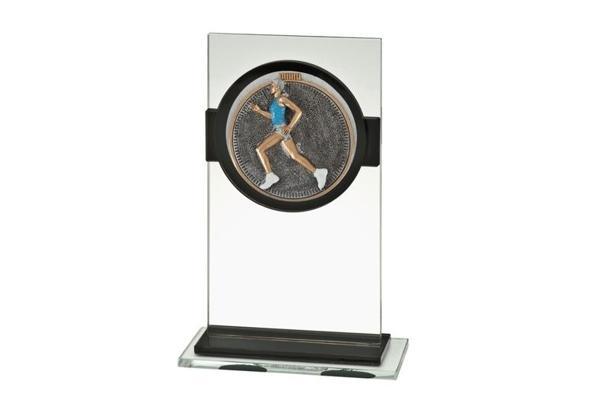 Glas Pokal Laufen Frauen FG034